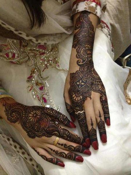 Bridal Foot Mehndi Designs Unforgettable Collection : Latest new bridal or dulhan mehndi designs for full hands