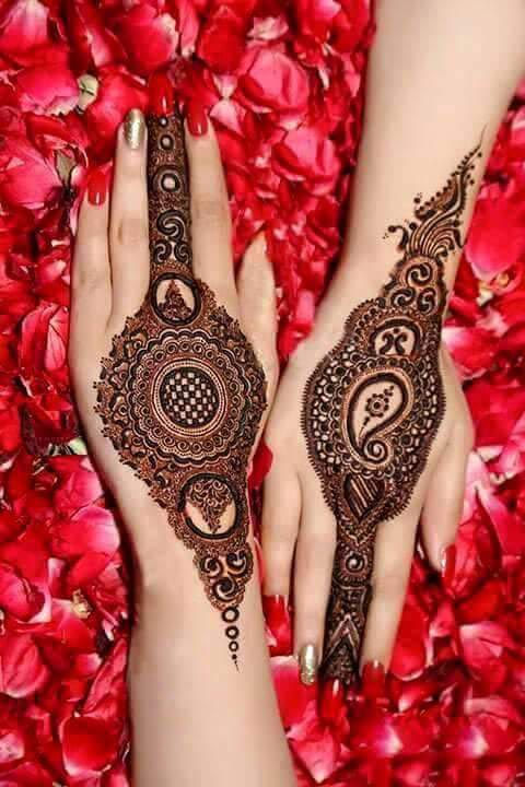Latest New Bridal Or Dulhan Mehndi Designs 2016 For Full Hands
