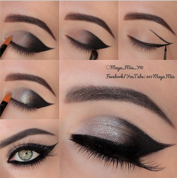 step by step Smokey eye bridal make up tutorial 2016