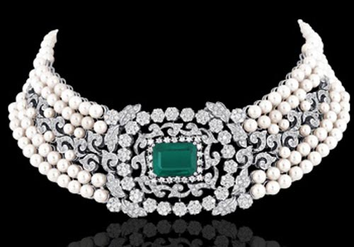 Beautiful Jewelry Indian 2016 Diamond Choker Necklace