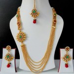 Latest Fashion of Indian Gold Jewellery Sets Designs for Bridal