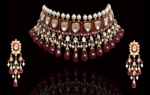 Jewelry Sets Indian 2016 Diamond Choker Necklace