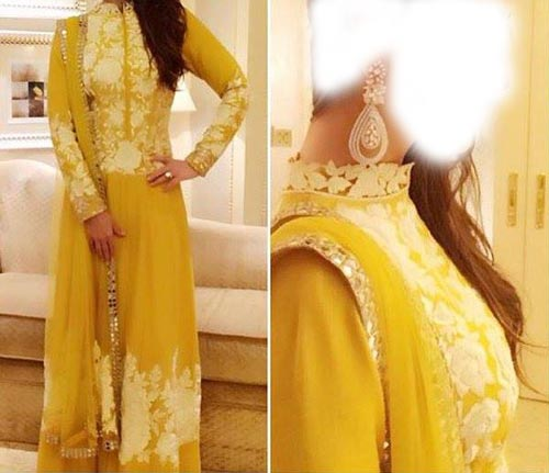 Karina Kapoor Manish Malhotra Dresses Designs 2016 Long Salwar Kameez Suit Winter Collection