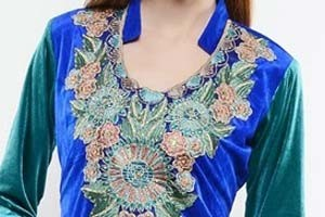 Lace Patterned Collar Neck 2016
