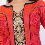 New Neck Designs 2016 for Salwar Kameez, Punjabi Suits Kurti Gala V Shape