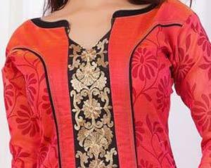 New Neck Designs 2016 for Salwar Kameez, Punjabi Suits Kurti Gala V Shape