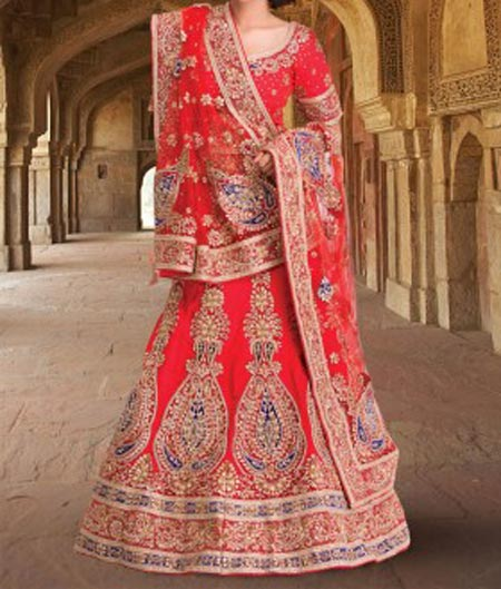 New Designs Fashion 2016 A-line cut Bridal Lehenga design India