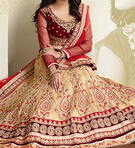 New Fashion Of Bridal Wedding Lehenga 2016 Stylish Designs