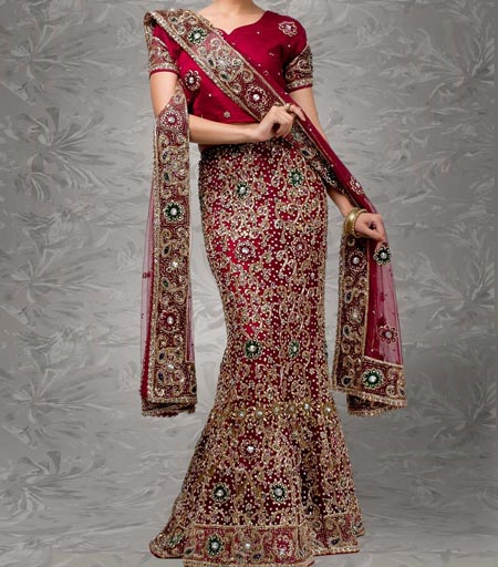 New Designs Fashion 2016 Fish cut or Fishtail Bridal Lehenga design India
