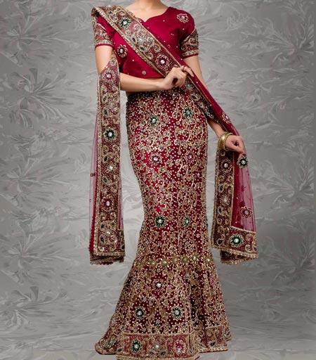 New Designs Fashion 2016 Fish cut or Fishtail Bridal Lehenga design India