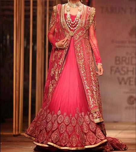 New Designs Fashion 2016 Flares Bridal Lehenga design