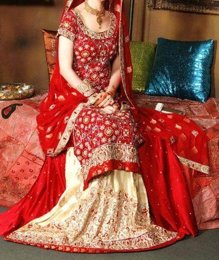 New Designs Fashion 2016 Straight cut Lehenga design Pakistan