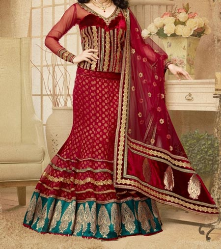 New Designs Fashion 2016 Straight cut Lehenga design