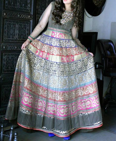 New Frock Design 2016 Latest Style Fashion Kalidar umbrella