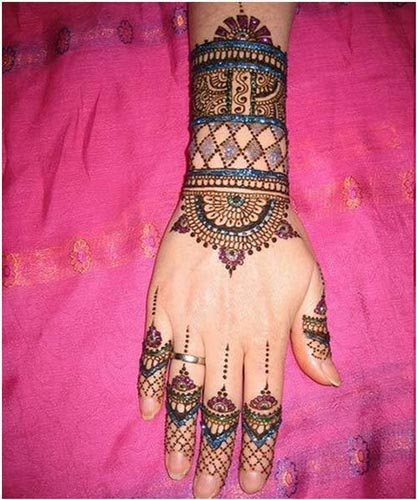 Bangle-Style-Khaleeji Henna, Mehndi Designs for Hand and Feet 2016 2017-3