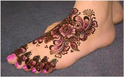 Floral-Garnet Khaleeji Henna, Mehndi Designs for Hand and Feet 2016 2017