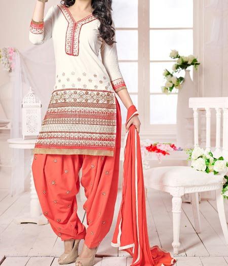 New Latest Neck Design Patiyala Dress Suit Patiala 2016 Punjabi Salwar Kameez