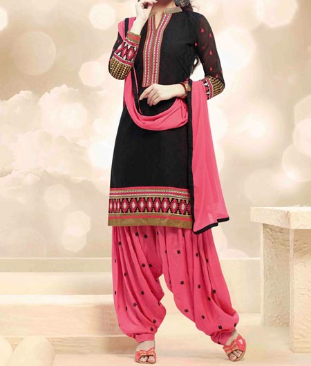 New-Style-Neck Design Patiyala Dress Suit Patiala 2016 Punjabi Salwar Kameez