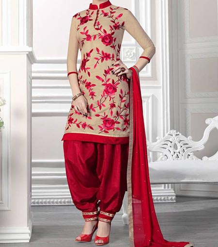 Punjabi-Style Neck Design Patiyala Dress Suit Patiala 2016 Punjabi Salwar Kameez