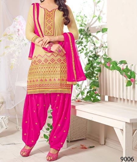 Straight-Cut- Neck Design Patiyala Dress Suit Patiala 2016 Punjabi Salwar Kameez