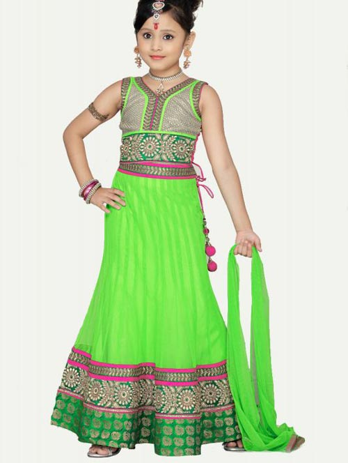 Beautiful-Kids-Lehenga Latest Sharara and Gharara Designs For Kids 2016 2017 Ghagra Choli