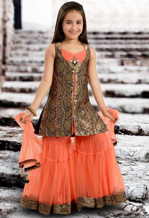 Latest Sharara and Gharara Designs For Kids 2016 2017 Ghagra Choli 1