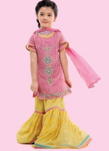 Latest Sharara and Gharara Designs For Kids 2016 2017 Ghagra Choli 2