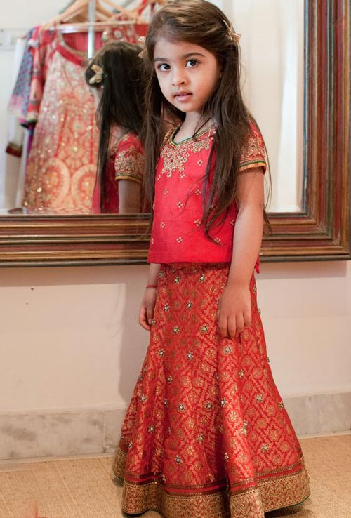 Latest Sharara and Gharara Designs For Kids 2016 2017 Ghagra Choli 3