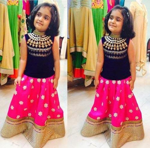 Latest Sharara and Gharara Designs For Kids 2016 2017 Ghagra Choli 4