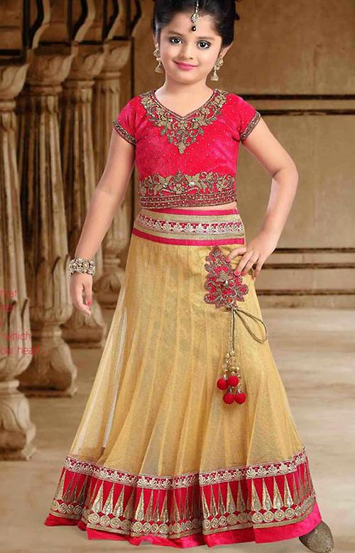 Latest Sharara and Gharara Designs For Kids 2016 2017 Ghagra Choli lehenga-choli