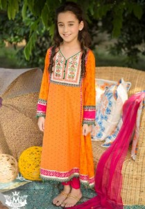 Little-Girls-Baby-Girls-Party-Wedding-Dress-Pakistani-Indian-2016-2017-Orange