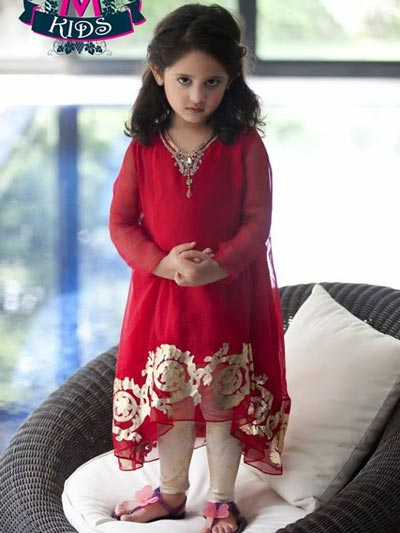 Little-Girls-Baby-Girls-Party-Wedding-Dress-Pakistani-Indian-2016-2017-Red