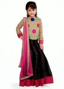 Little-Girls-Baby-Girls-Party-Wedding-Dress-Suit-Pakistani-Indian-2016-2017-Black