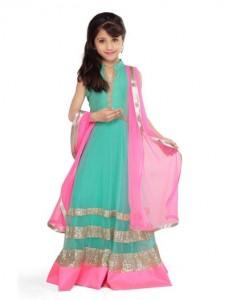 Little-Girls-Baby-Girls-Party-Wedding-Dress-Suit-Pakistani-Indian-2016-2017-Green