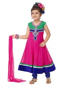 Little-Girls-Baby-Girls-Party-Wedding-Dress-Suit-Pakistani-Indian-2016-2017-Pink
