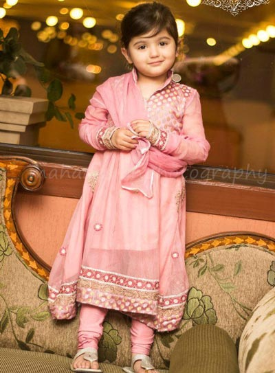 Little-Girls-Baby-Girls-Party-Wedding-Dress-Suit-Pakistani-Indian-2016-2017-Pink-Cute