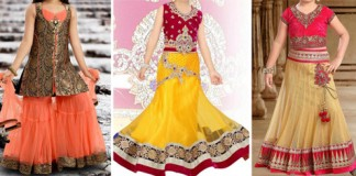 Sharara & Gharara Suit For Baby Girls, Ghagra Choli Designs 2016