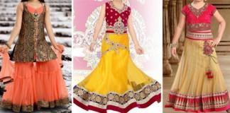 Sharara & Gharara Suit For Baby Girls, Ghagra Choli Designs 2016