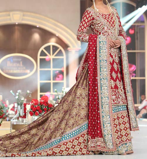 Bridal Wedding Dresses Lehenga Choli 2016 Fashion in Pakistan and India