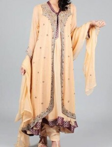 Fashion Front Open Double Shirt Style Frock Gown Shirt Designs 2016 2017 Pakistan