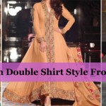 Front Open Double Shirt Style Frock & Gown Designs 2016 2017
