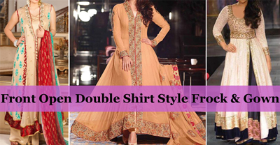 front open double shirt style frock amp gown designs 2016