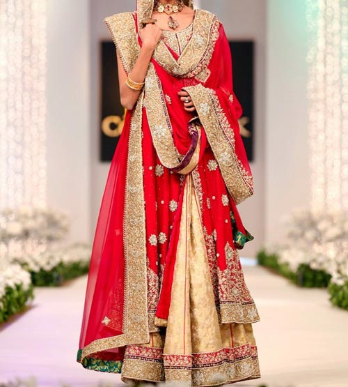 New Fashion of Bridal Dresses 2016 2017 in Pakistan and India Pics 1