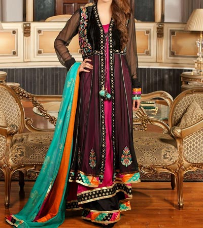 New-Stylish-Front-Open-Frocks-Fashion-in-Pakistan-India-2016-2017