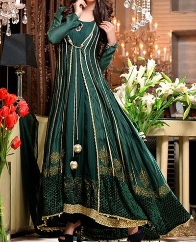 New-Stylish-Green-Tail-Frocks-Fashion-in-Pakistan-India-2016-2017