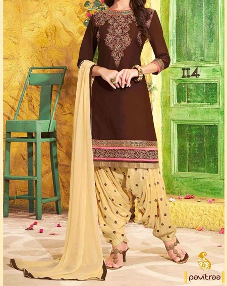 New Fashion Punjabi Salwar Kameez Patiala Suit Neck Designs 2016 2017 India