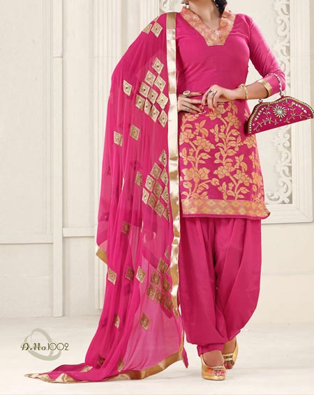 New Fashion Punjabi Salwar Kameez Patiala Suits Neck Designs 2016 2017 India