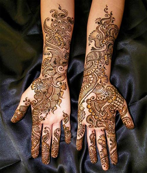 Mehndi Designs For Hands Amp Legs : Latest dulhan mehndi design for full hands feet legs images