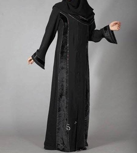 Black Casual Simple Abaya Designs 2016 2017 Burqa Burka Saudi Arabia UAE Dubai 1