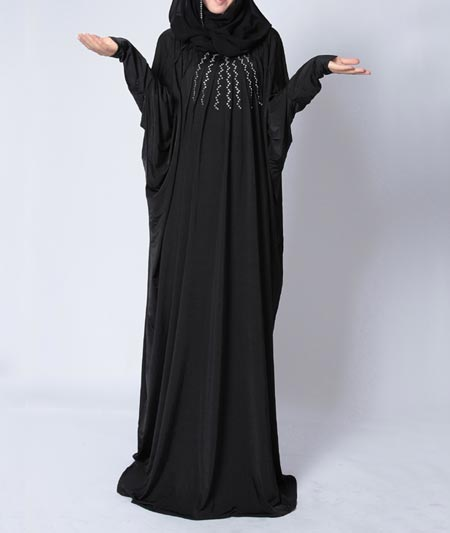 Black Casual Simple Abaya Designs 2016 2017 Burqa Burka Saudi Arabia UAE Dubai 2